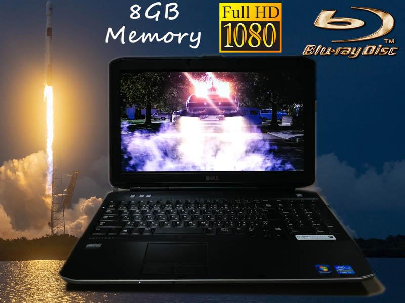 Dell Latitude E5530 fHD Blu-ray Special  Core i3-3110M 8GB  HDD/500GB Blu-ray/BDXL 15.6/1920×1080 BatteryTime/3h32m  Win10