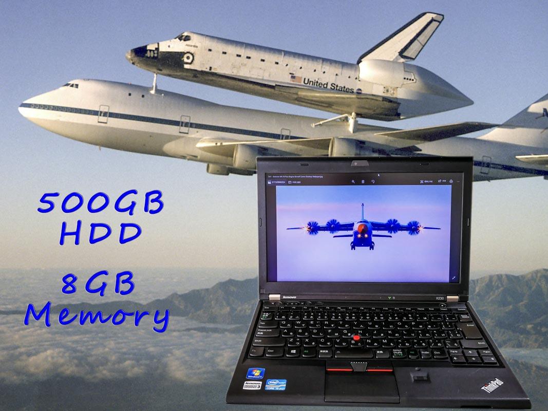 Lenovo ThinkPad X230 (Big Storage  Special) i5 8GB 500GB(HDD) 12.5(1366×768)  BatteryTime(4h16m)  Keyboard Light Win10