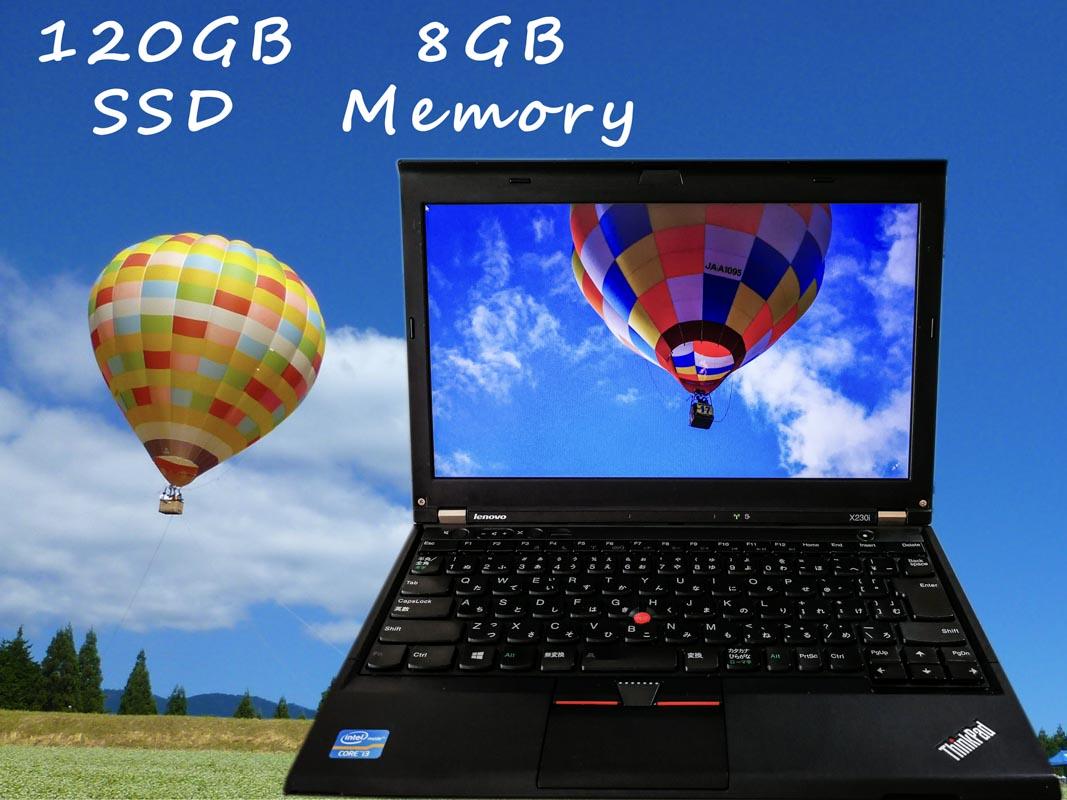 Lenovo ThinkPad X230i (Ecology  Edition) i3 8GB  120GB(SSD) 12.5(1366×768)  BatteryTime(3h20m) Win10
