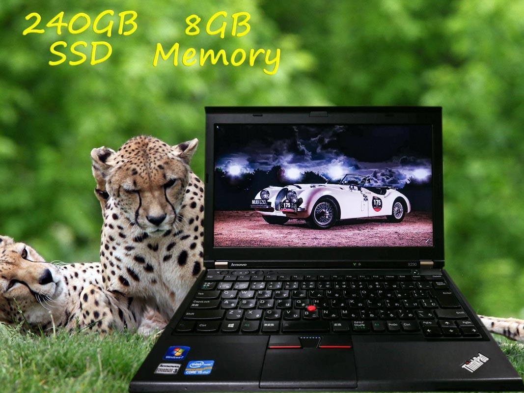 Lenovo ThinkPad X230 (新品SSD) i5  8GB SSD(240GB)  12.5(1366×768)  BatteryTime(6h4m)  Keyboard Light  Win10