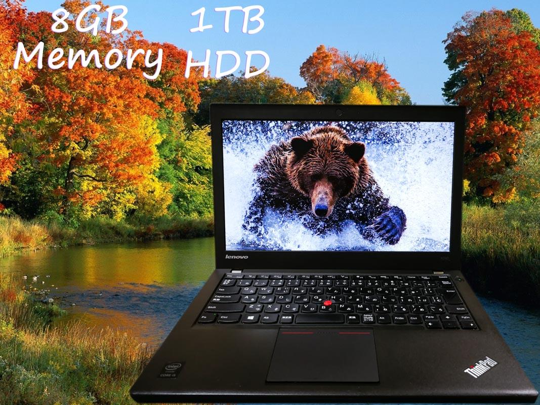 Lenovo ThinkPad X240 (大容量HDD) i5 8GB HDD(1TB)  12.5(1366×768)  BatteryTime(2h55m) Win10 Option(240GB M.2  SSD)
