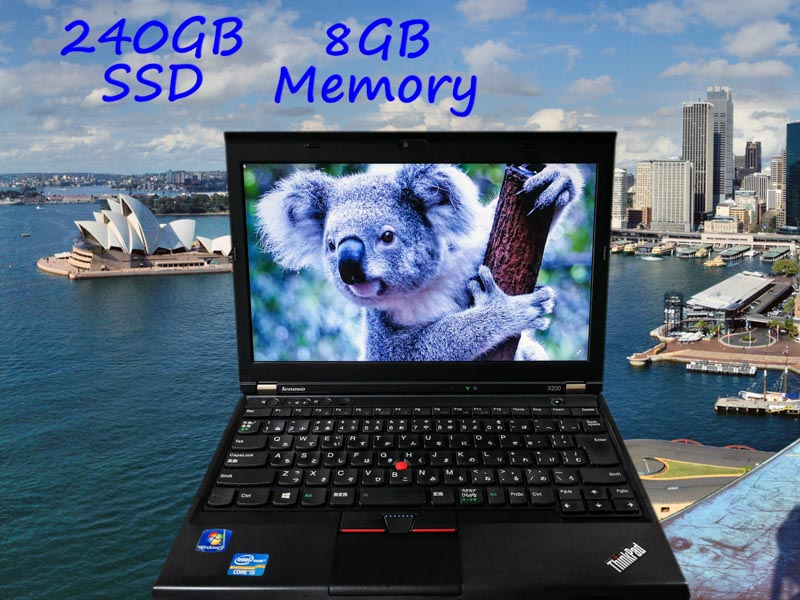 Lenovo ThinkPad X230 (新品SSD、Bluetoothマウス) i5  8GB SSD(240GB)  12.5(1366×768)  BatteryTime(5h51m)  Keyboard Light Win10