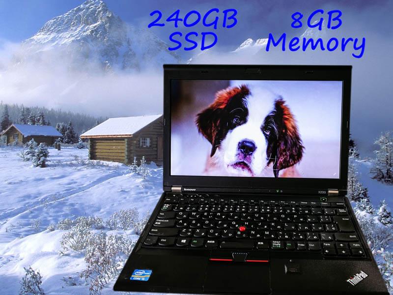 Lenovo ThinkPad X230 (新品SSD) i5  8GB SSD(240GB)  12.5(1366×768)  BatteryTime(7h7m)  Keyboard Light  Win10