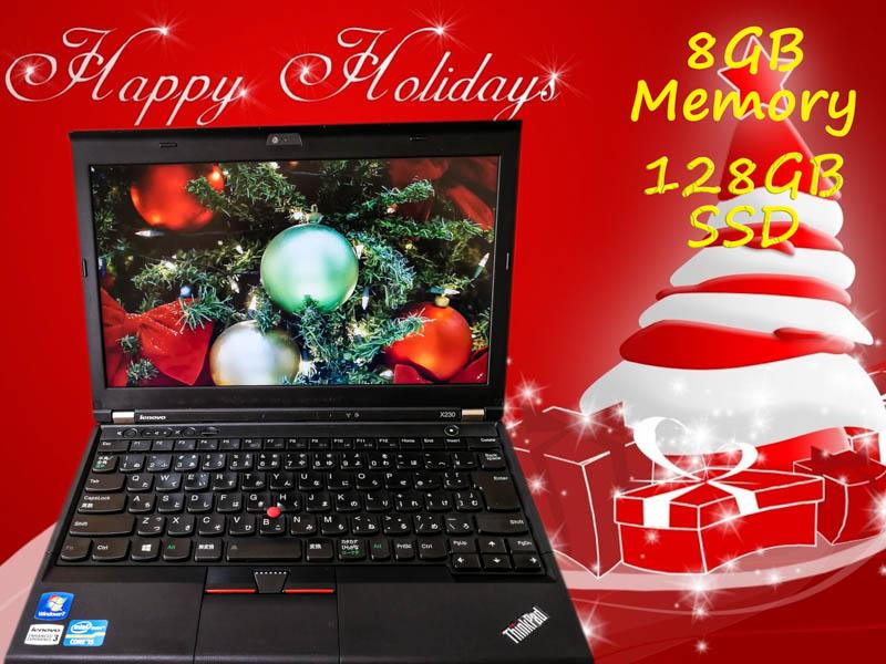 Lenovo ThinkPad X230 (東芝SSD) i5  8GB SSD(128GB)  12.5(1366×768)  BatteryTime(6h6m)   Win10  Bluetoohマウス  オプション(大容量SSD)