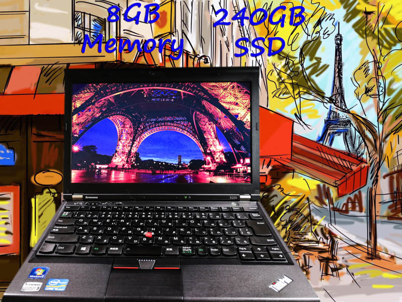 Lenovo ThinkPad X230 i5 8GB SSD(240GB)  12.5(1366×768)  BatteryTime(7h10m)  Keyboard Light Bluetoothマウス  Win10