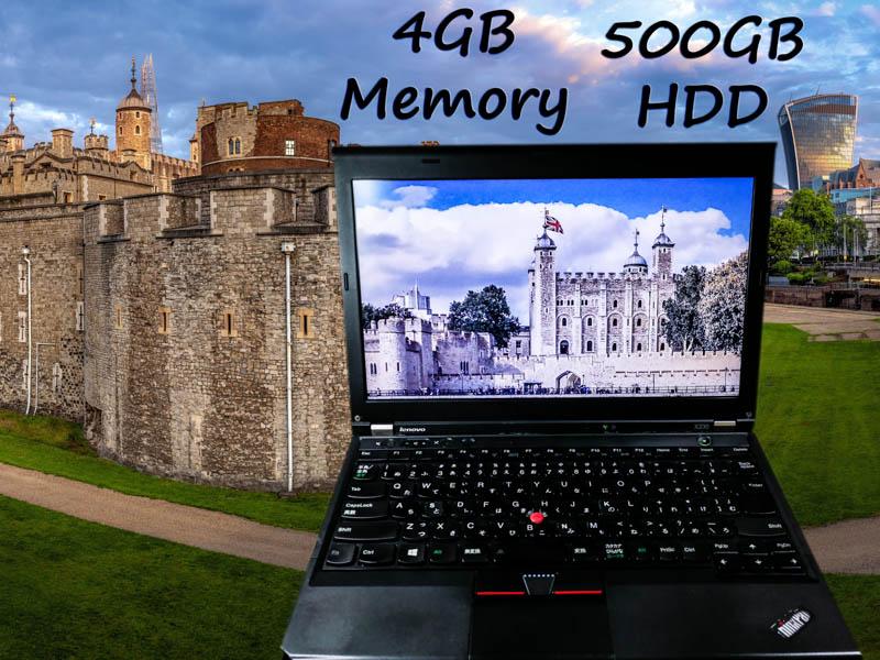 Lenovo ThinkPad X230 i3 4GB (訳あり) HDD(500GB)  12.5(1366×768)  BatteryTime(5h43m)  Keyboard Light マイクロマウス  Win10 op(選べる無料アプリ)