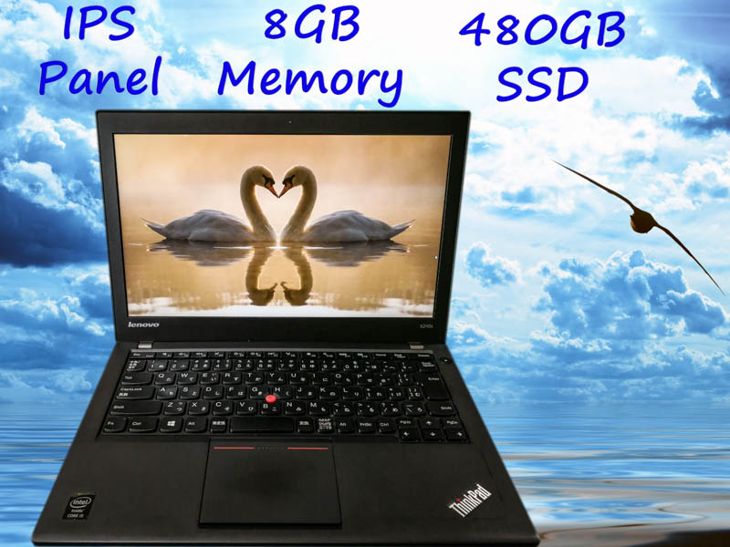 Lenovo ThinkPad X240s i5  8GB(大容量SSD,IPSパネル) SSD(新品480GB)  12.5 IPS(1366×768)  TwinBatteryTime(6h5m)Win10 Bluetoothマウス  オプション(fHD液晶パネル)