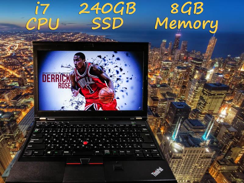 Lenovo ThinkPad X230 i7  8GB SSD(新品240GB)  12.5(1366×768)  BatteryTime(6h7m)  keyboardLight  Bluetoothマウス  Win10 op(16GB)