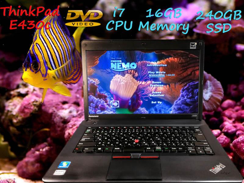 Lenovo ThinkPad E430c i7 16GB  SSD(新品240GB) 14.0 (1366×768)  DVD(Multi) BatteryTime(4h41m) Win10 op(1TB HDD増設)