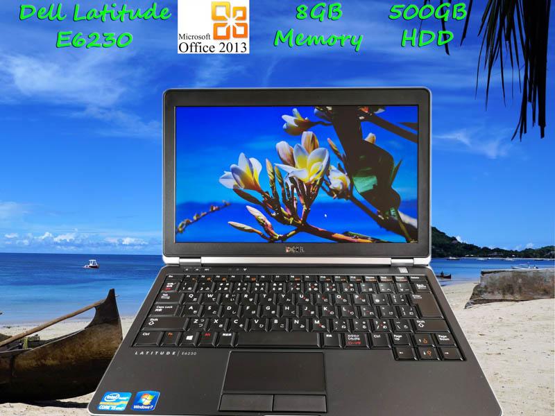 Dell Latitude E6230 i5 8GB HDD(500GB)  12.5(1366×768)  BatteryTime(7h49m) Win10 Office Pro  Plus 2013