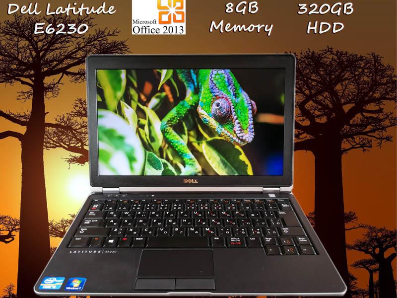 Dell Latitude E6230 i5 8GB HDD(320GB)  12.5(1366×768)  BatteryTime(8h47m) Win10 Office Pro  Plus 2013