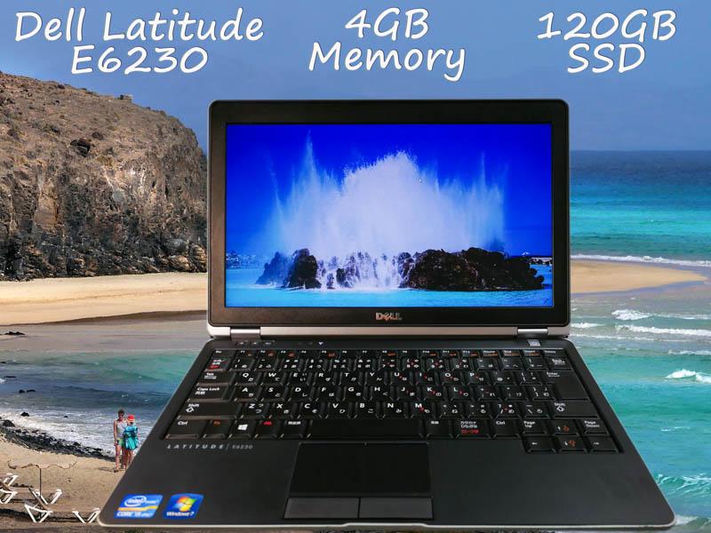 Dell Latitude E6230 i5 4GB SSD(新品120GB)  12.5(1366×768)  BatteryTime(11h24m) Win10 オプション(ドコモSimFree)