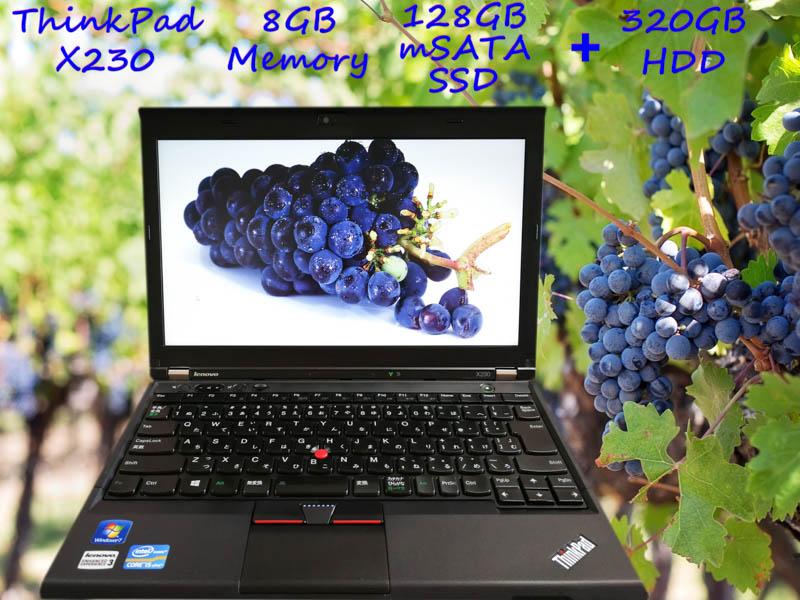 Lenovo ThinkPad X230 i5 8GB SSD(mSATA 128GB)+HDD(320GB) HD 12.5 (1366×768)  BatteryTime(7h5m)  KeyboardLight  Win10