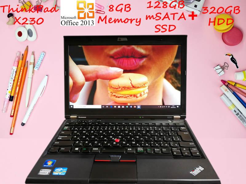 Lenovo ThinkPad X230 i5 8GB  SSD(mSATA  128GB)+HDD(320GB) 12.5(1366×768)  BatteryTime(7h5m) Win10 Office 2013