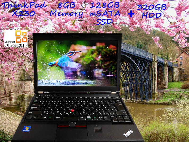 Lenovo ThinkPad X230 i5 8GB SSD(mSATA 128GB)+HDD(320GB) HD 12.5 (1366×768)  BatteryTime(4h10m)  KeyboardLight  Win10 Office 2013