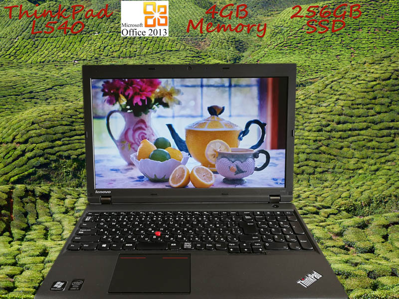 Lenovo ThinkPad L540 i5 4GB サムスン SSD(256GB)  15.6(1366×768) DVD-ROM  BatteryTime(7h55m) Win10  Office 2013
