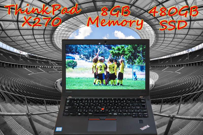 ThinkPad X270 i3 8GB,新品480GB SSD,12.5 HD,Bluetooth,カメラ,指紋,Win10